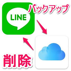 line-talkrireki-icloud-backup-sakujyo