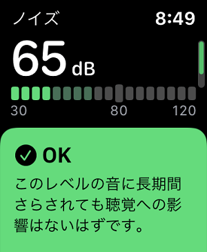 AppleWatchノイズ測定