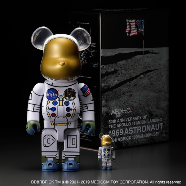 1969 ASTRONAUT BE@RBRICK 100% & 400% SET 1