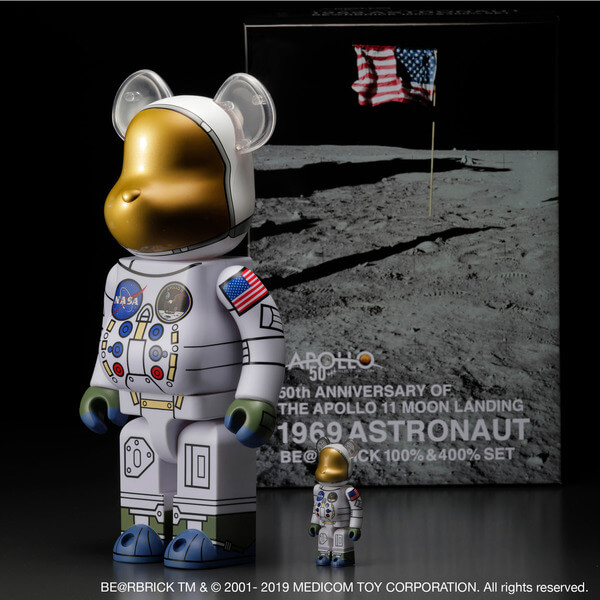 1969 ASTRONAUT BE@RBRICK 100% & 400% SET 4