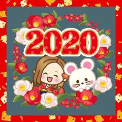 無料 あけおめ スタンプ 2020