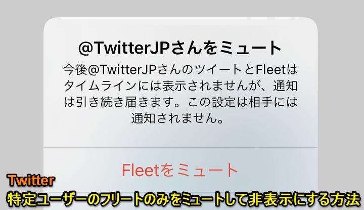表示 非 twitter フリート